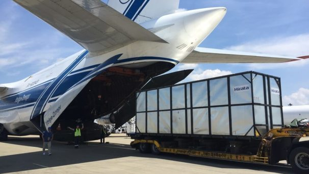 Volga-Dnepr's local IL-76TD-90VD freighter helps acs to deliver drilling machine to mining project in India